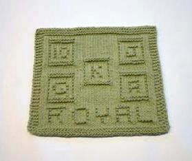 royal flush dishcloth pattern