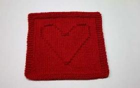 heart dishcloth pattern