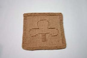 clubs dishcloth pattern