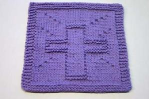 cross dishcloth pattern