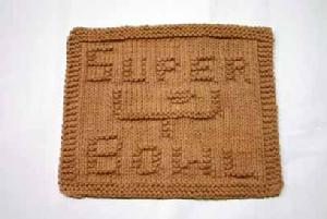 Super Bowl Dishcloth