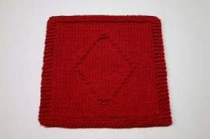 diamonds dishcloth pattern