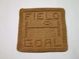 football dishcloth pattern