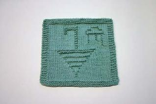 umbrella dishcloth pattern