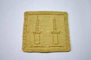 candlesticks dishcloth pattern