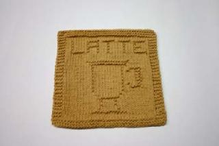 latte dishcloth pattern