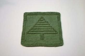 tree dishcloth pattern