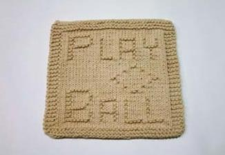 baseball dishcloth pattern