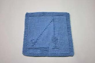 fishing dishcloth pattern