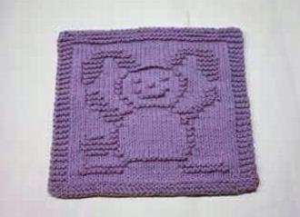 Happy Bunny Dishcloth