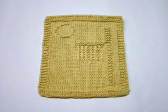 basketball dishcloth pattern